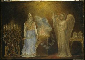 """""""The Angel Gabriel Appearing to Zacharias"""" William Blake"""