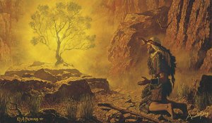 Moses and the Burning Bush Arnold Friberg