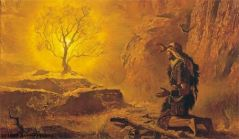"""Moses and the Burning Bush"" Arnold Friberg"