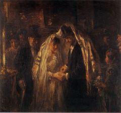 """""""A Jewish Wedding"""" Jozef Israëls"""