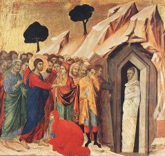 """Resurrection of Lazarus"" Duccio di Buoninsegna"