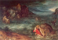 """Jonah Leaving the Whale"" Jan Brueghel the Elder"