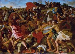 """The Victory of Joshua over the Amalekites"" Nicolas Poussin"