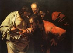 """The Incredulity of Saint Thomas"" Michelangelo Merisi o Amerighi da Caravaggio"