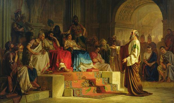 """Trial of the Apostle Paul"" Nikolas Kornilievich Bodarevsky"