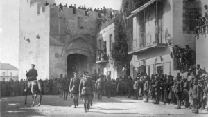 Field Marshal Sir Edmund Allenby entering Jerusalem, December 11, 1917.