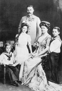 Archduke Franz Ferdinand and Duchess Sophie with their three children in 1910