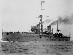HMS Dreadnought The world's first battleship became the symbol of the naval arms race between Germany and Great Britain.