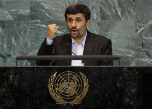 Iran's President Mahmoud Ahmadinejad addresses the 65th United Nations General Assembly at U.N. headquarters in New York, September 23, 2010. REUTERS/Mike Segar
