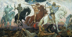 """Four Horsemen of the Apocalypse"" Viktor M. Vasnetsov"