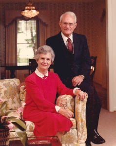Ed and Sara Arendall at the time of his retirement from the pastorate at Dawson in 1984.  (Courtesy of Mr. Doug Arendall.)