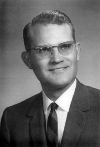 Dr. Edgar M. Arendall Pastor, Dawson Memorial Baptist Church, Homewood, Alabama.  From a photo taken in the 1960s.