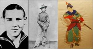 Three warriors who bent the rules to fight for their countries in time of war:  Calvin Graham, 12-year-old US Navy veteran of World War II; Frances Clalin Clayton, aka Jack Williams, who enlisted as a man in the US Army during the American Civil War; and Hua Mulan, who served in the army of ancient China in place of her aged father.