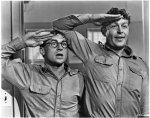 "Andy Griffith and Nick Adams as two good-hearted, but intellectually challenged, recruits in the 1958 Warner Brothers comedy ""No Time For Sergeants""."