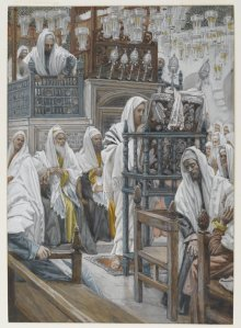 Jesus Unrolls the Book in the Synagogue James Tissot Brooklyn Museum