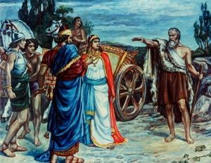 Jezabel and Ahab Meeting Elijah in Naboth's Vineyard Sir Francis Dicksee