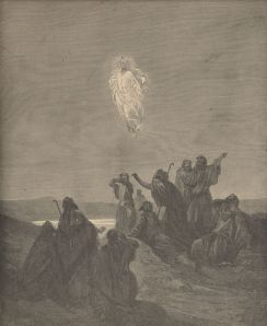 "In typical Christian tradition, this depiction of The Ascension by Gustav Doré overlooks the critical question of the disciples:  ""Lord, will You at this time restore the kingdom to Israel?"" (Acts 1:6)."