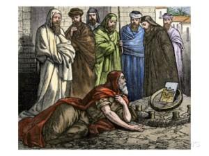 Ezekiel laying siege to Jerusalem.  (Giclee Print at AllPosters.com)