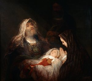 Some in 1st Century Judea may have expected Messiah to be revealed as a mighty king from the beginning, but righteous saints like Simeon and Anna understood that God's processes often do not fit human expectations.  (Simeon's Song of Praise, Aert de Gelder.)