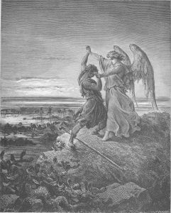 Jacob Wrestles With The Angel Gustave Doré
