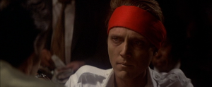 Christopher Walken as Nick in the climactic Russian Roulette in The Deer Hunter (Source:  K-Stalker Kino Cinema Movie Blog.)