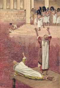 Water Is Changed Into Blood James Tissot