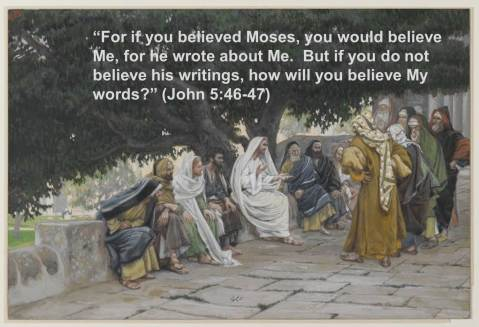 Original Painting:  The Pharisees and the Saduccees Come to Tempt Jesus, by James Tissot (Brooklyn Museum via Wikimedia Commons)