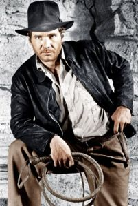 "Harrison Ford as Indiana Jones in Raiders of the Lord Ark.  (""'Iron Man 3' Star Ty Simpkins' Five Cool Movies"" at Yahoo! Movies.  © Paramount; courtesy Everett Collection.)"
