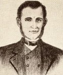 Sketch of William B. Travis Wiley Martin