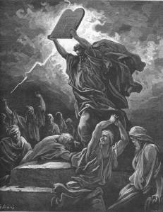 Moses Breaking the Tablets of the Law Gustave Doré