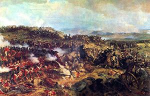 The Battle of Waterloo: The British Squares Receiving the Charge of the French Cuirassiers Henri Félix Emmanuel Philippoteaux