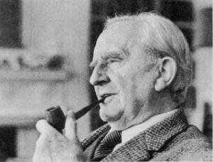 Tolkien in 1972, in his study at Merton Street (from J. R. R. Tolkien. A Biography by H. Carpenter; accessed on lotr.wikia.com)