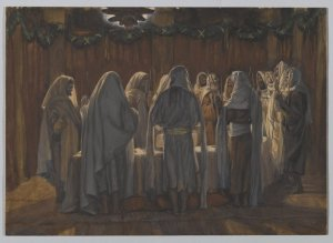 Messiah Yeshua celebrates the Passover with His disciples.  (The Last Supper, by James Tissot.  From the Brooklyn Museum.)