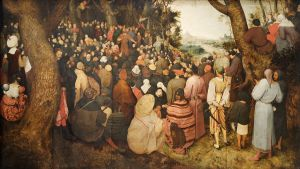 John the Baptist said that God is able to raise up children of Abraham from the very stones.  Messiah Yeshua made that possible, opening the way for all people to become part of the Seed of Abraham and  Commonwealth of Israel, regardless of physical descent.  (The Sermon of St John the Baptist, by Pieter  Brueghel the Elder)