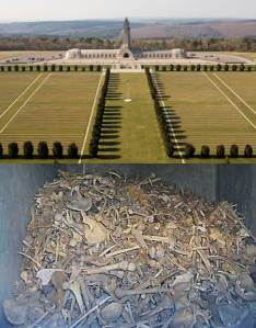 The Ossuary of Douaumont, final resting place of over 130,000 unidentified French and German soldiers whose bodies were broken in the great Battle of Verdun, February 21-December 18, 1916.