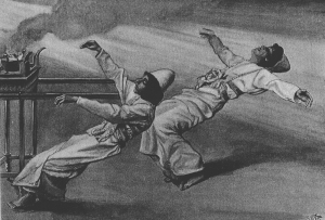 Nadab and Abihu suffer the consequences for lightly regarding the instructions of Holy God.  (The Two Priests are Destroyed, by James Tissot)