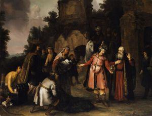 Der Prophet Elisa weist Naamans Gaben zurück (The Prophet Elisha Refuses Naaman's Gift) Abraham van Dijck