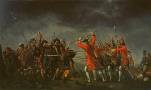 The Jacobite Uprising of 1745 ended in a disastrous defeat for the Scots at the Battle of Culloden on April 16, 1746.  The aftermath of the battle  prompted the exodus of many Scots to America.  In time they embraced their American identity, but their Scottish heritage greatly enriched their new nation.  In the same way, Ephraimites of all nations will enrich Israel with what they bring from the lands of their sojourn.  (The Battle of Culloden, by David Morier)