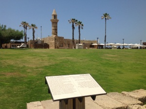 Site of the original harbor at Caesarea.  The Apostle Paul departed from here on his voyage to Rome.