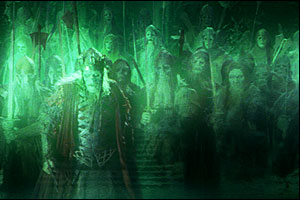 "Although visually stunning, Peter Jackson's depiction of the army of the dead oathbreakers in his film version of The Return of the King did not reach the depth of Tolkien's account regarding the sacredness of oaths or vows and the dire consequences of breaking them.  (Photo:  ""Army of the dead"", via Wikipedia)"
