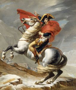 Napoleon Bonaparte, a good man for whom many would die, but not a righteous man.  (Bonaparte Crossing the Grand Saint-Bernard Pass, 20 May 1800, by Jacques Louis David)