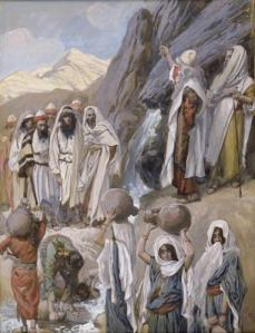 Moses Strikes the Rock James Tissot