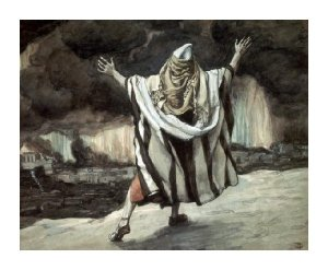 Abraham Sees Sodom in Flames James Tissot