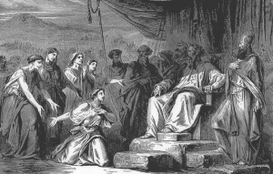 The Daughters of Zelophehad, from The Bible and Its Story Taught by One Thousand Picture Lessons via Wikimedia Commons
