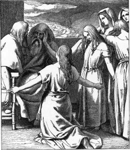 The Daughters of Zelophehad.  By Illustrators of the 1897 Bible Pictures and What They Teach Us by Charles Foster [Public domain], via Wikimedia Commons.
