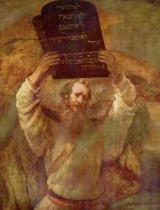 Moses with the Tablets of the Law Rembrandt Harmenszoon van Rijn