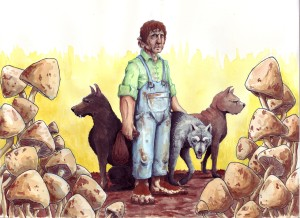 Farmer Maggot and his dogs. (Source: Deviant Art, ©2010-2015 ringbearer80)