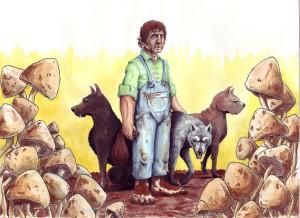 Farmer Maggot and his dogs. (Source: Deviant Art, ©2010-2015 ringbearer80)