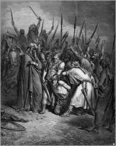 In The Death of Agag, Gustave Doré illustrates one of the events in the unending war God commanded Israel to carry out against the Amalekites.