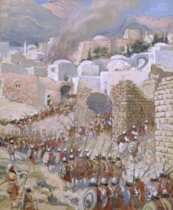 The Torah explains how Israelite warriors could take wives from among women captured in battle. Would that be oppression of women, or a way to show kindness to a foreigner by providing a way to become an honored member of the nation? (The Taking of Jericho, by James Tissot)